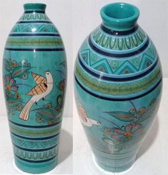 Baro Bruñido Turquoise Vessel $7,500 pesos plus shipping (mas envio)