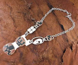 Silver Necklace $8.000 pesos plus shipping (mas envio)
