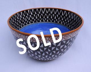 SOLD--High-fire Ceramic Bowl $1,000 pesos plus shipping (mas envio)
