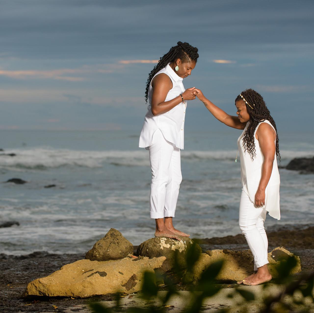 Exploring together at Playa Langosta