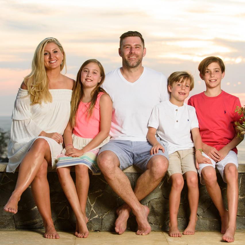 Family vacation photos at El Tesoro in Tamarindo