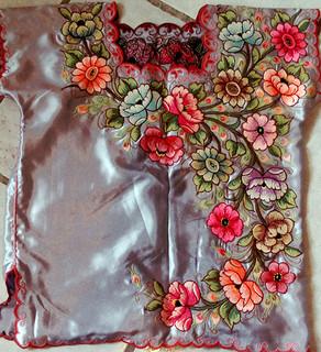 Silver Embroidered Blouse $650 pesos plus shipping (mas envio)