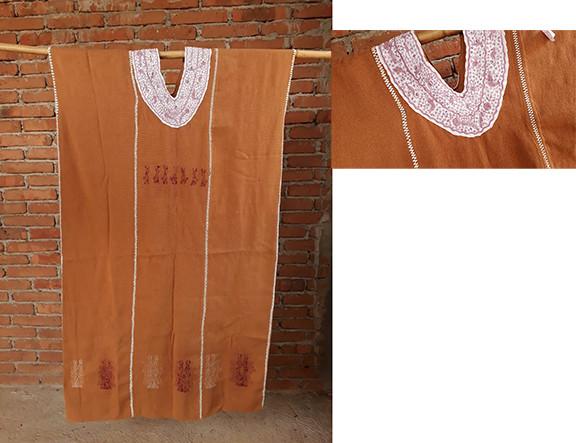 Endangered: Khaki & Purpura Huipil with Collar $4,500 plus shipping (mas envio)
