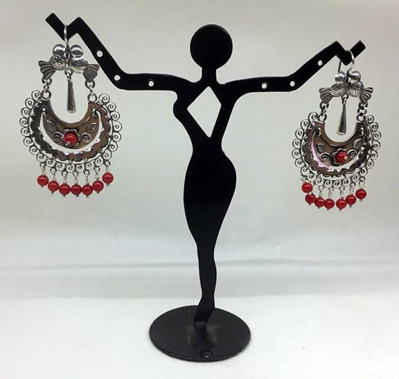 Mazahua Vicky hoop earrings $2,000 pesos plus shipping (mas envio)