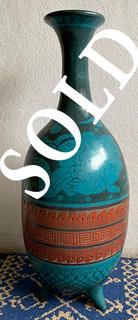 SOLD-Vase in Barro Esgrafiado $2,500 pesos  plus shipping (mas envio)