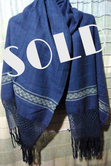 SOLD-Hand-Woven Cotton Rebozo $1000 pesos plus shipping (mas envio)