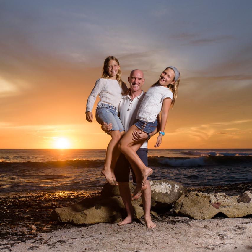 Daddy's girls at Langosta Beach
