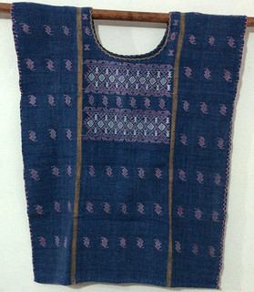 Cotton Blouse of Natural Indigo & Cochinilla Dyes $2300 pesos plus shipping (mas envio)