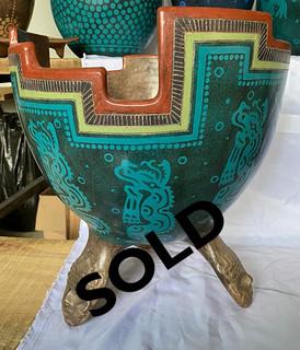 SOLD-Greek-Fashioned Molcajetero $3,000 pesos plus shipping (mas envio)
