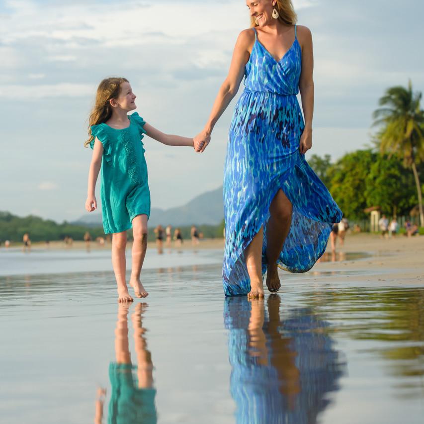 Mother and daughter strolls at Tamarindo Diria