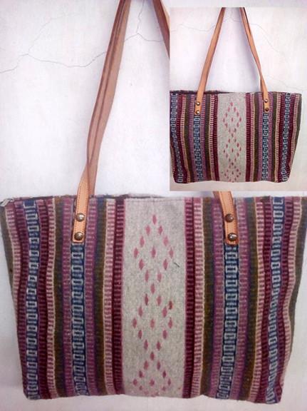 """Rain"" Wool Bag Dyed with Cochineal $850 pesos plus shipping (mas envio)"