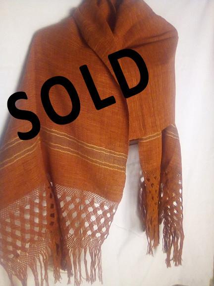 SOLD--Medium Cotton Rebozo $1,000 pesos plus shipping (mas envio)