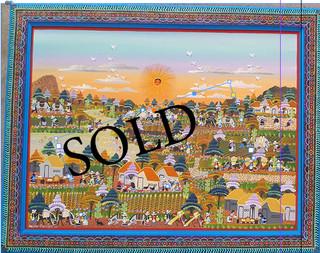 SOLD-Nahuatl Painting $6,500 pesos (discounted from $7,500) plus shipping (mas envio)