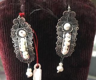 Silver Filigree Earrings $650 pesos plus shipping (mas envio)