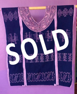 sold Endangered: Purpura Huipil $4,900 pesos plus shipping (mas envio)