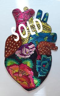 SOLD3--Heart straw painting $480 pesos plus shipping (mas envio)