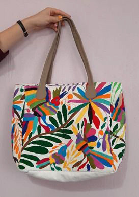 Cotton Purse with Otomi Embroidery $1500 pesos plus shipping (mas envio)