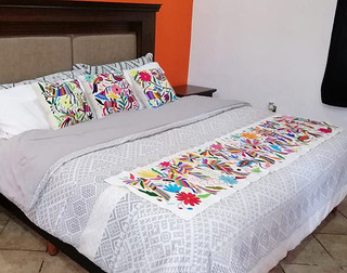 Otomi Hand-embroidered Table or Bed Runner Multi-Colors $1600 plus shipping (mas envio)