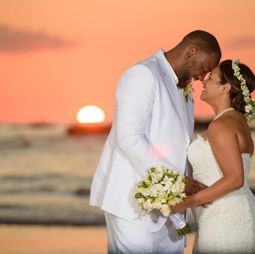 The newlyweds at Tamarindo Diria