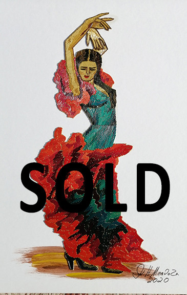 SOLD--Flamenco dancer $1,500 pesos