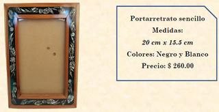 Wood inlaid w/abalone picture frame $260 pesos plus shipping (mas envio)