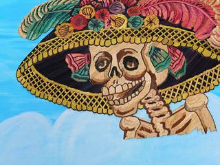 Catrina Straw Painting $2,800 pesos plus shipping (mas envio)