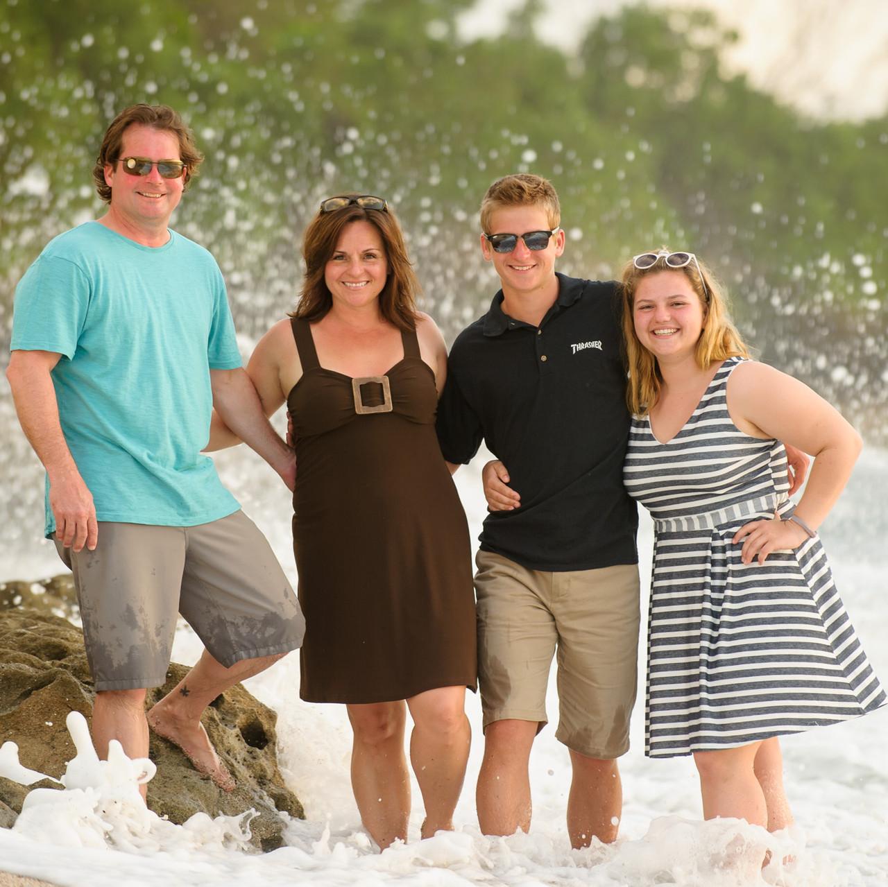 Waves crashing on the rocks at Crystal Sands Playa Langosta