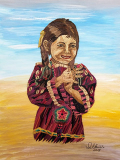 Popotillo Sioux Indian Girl $2,800 pesos plus shipping (mas envio)
