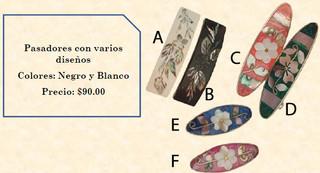 Hair clips (specifiy design) $90 pesos plus shipping (mas envio)