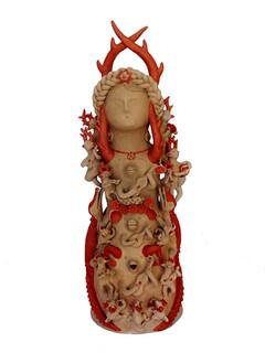"Artist: Alicia Leticia Garcí Blanco — ""Nahual woman "" $10,000 pesos plus shipping (mas envio)"