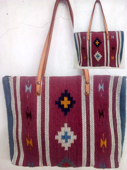 """""""Cross & Butterfly"""" Wool Bag $850 pesos plus shipping (mas envio)"""
