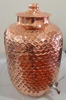 Hand-Hammered Water Container with Tap $3000 pesos plus shipping (mas envio)