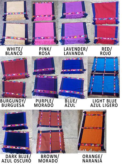 Placemats $150 pesos cu/each plus shipping (mas envio)