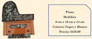 Wood inlaid w/abalone piano $450 pesos plus shipping (mas envio)