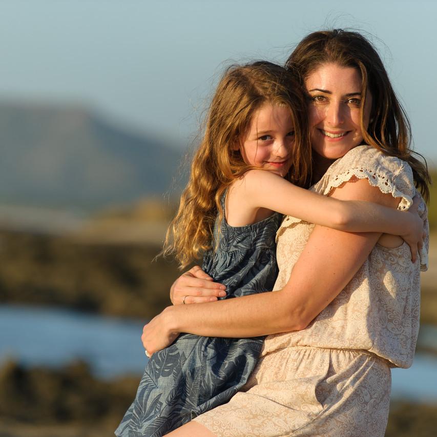 Sharing a hug full of love at Cala Luna in Costa Rica