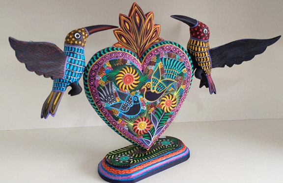 Nahual Painted Hand-carved wood $2,200 pesos plus shipping (mas envio)