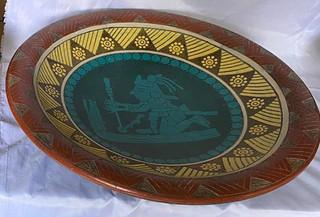 Centerpiece in Barro Esgrafiado $1,500 pesos plus shipping (mas envio)