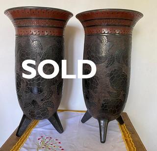 SOLD-Turtle-motif Vessel $4,500 pesos each/cu plus shipping (mas envio)
