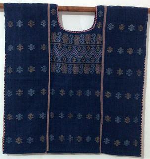 Cotton Natural Indigo-dye Blouse $2300 pesos plus shipping (mas envio)