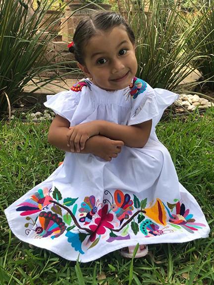 Embroidered girl's dress $1,300  pesos plus shipping/mas envio