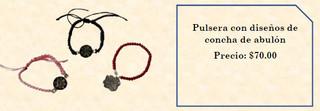 Abalone bracelet (specify design) $70 pesos (plus shipping)