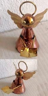 Hand-crafted copper angel ornament $150 pesos each plus shipping (mas envio)