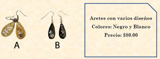 Abalone earrings (specify design) $80 pesos (plus shipping)