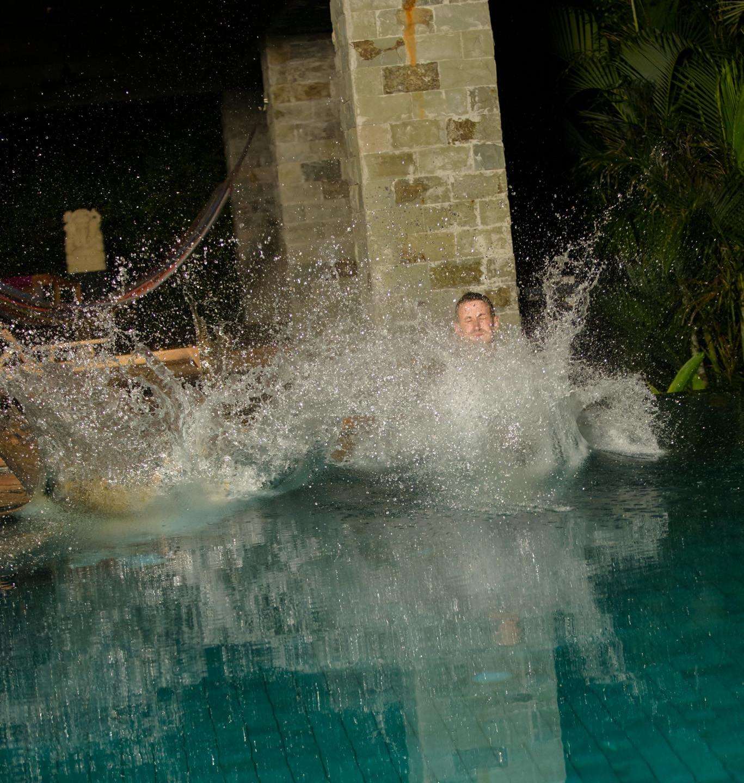 Splashing around at Casa Alang Alang