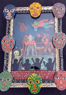 Ex-voto box/Los Luchadores $3,000 pesos plus shipping (mas envio)