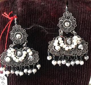 Silver Earrings $600 pesos plus shipping (mas envio)