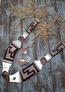 Sterling Necklace & Silver & Copper Earrings $8,580 pesos plus shipping (mas envio)