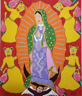 Dancing Jaguars with Virgin of Guadalupe $3,000 pesos plus shipping (mas envio)