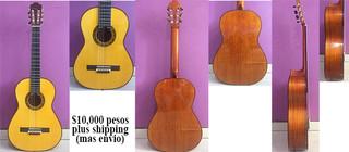 Hand-craft guitar $10,000 pesos plus shipping (mas envio)