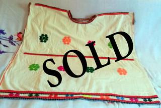SOLD--Chalchihuitán Huipil $1,700 pesos plus shipping (mas envio)